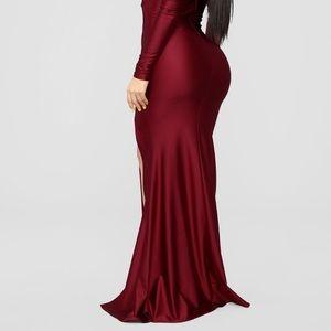 Burgundy dress brand new